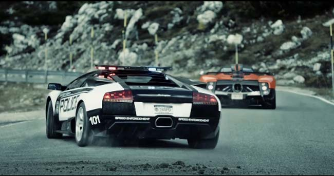 Pagani vs Lamborghini: Need for Speed Hot Pursuit (Video)
