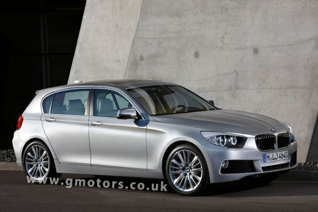 2012 BMW 1 Series 5-Door Hatch Rendered