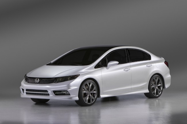 US-spec Honda Civic Coupe and Saloon Concepts Debut in Detroit