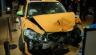 Crashed Volvo C30 Electric in Detroit