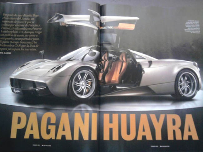 Pagani Huayra leaked image from CAR Magazine