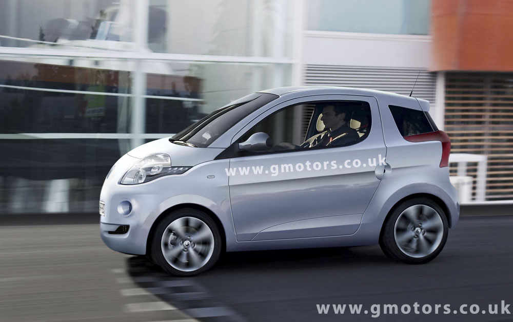 Smart-Based Electric Renault City Car Rendering