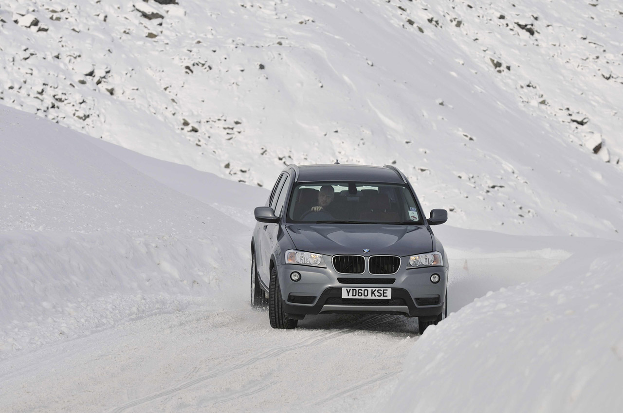 BMW X3 on snow
