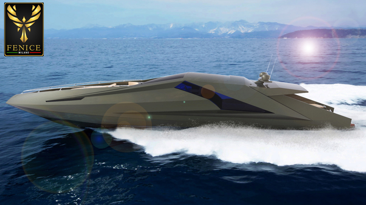 Lamborghini Style Power Yacht By Mauro Lecchi Design