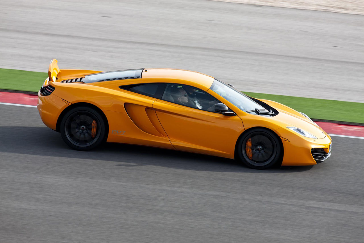 McLaren MP4-12C on the track - side view