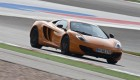 McLaren MP4-12C on the track