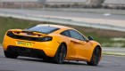 McLaren MP4-12C on the track - rear view