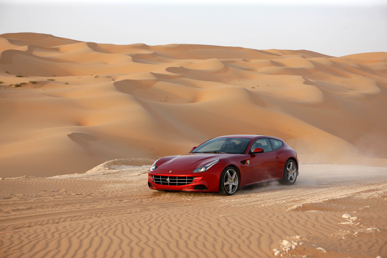 2012 Ferrari FF in the desert