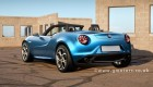 Alfa Romeo 4C Spider rendered
