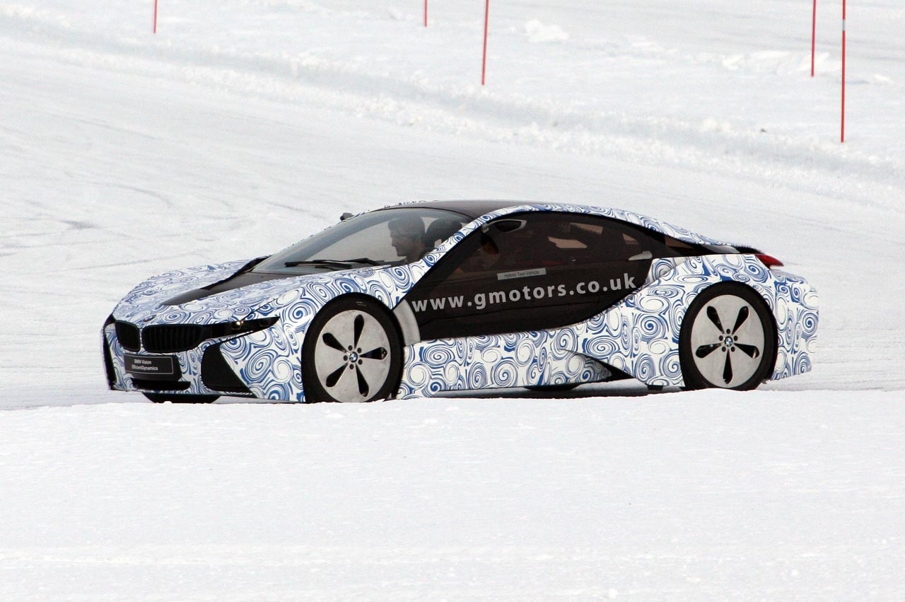 BMW i8 prototype cold weather testing in Sweden
