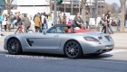 Mercedes SLS AMG Roadster with the top down