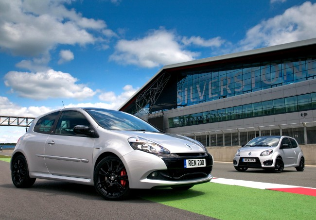 Renaultsport Clio and Twingo Silverstone GP editions