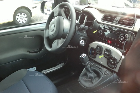 2012 Fiat Panda Interior &#8212; Spy Shots