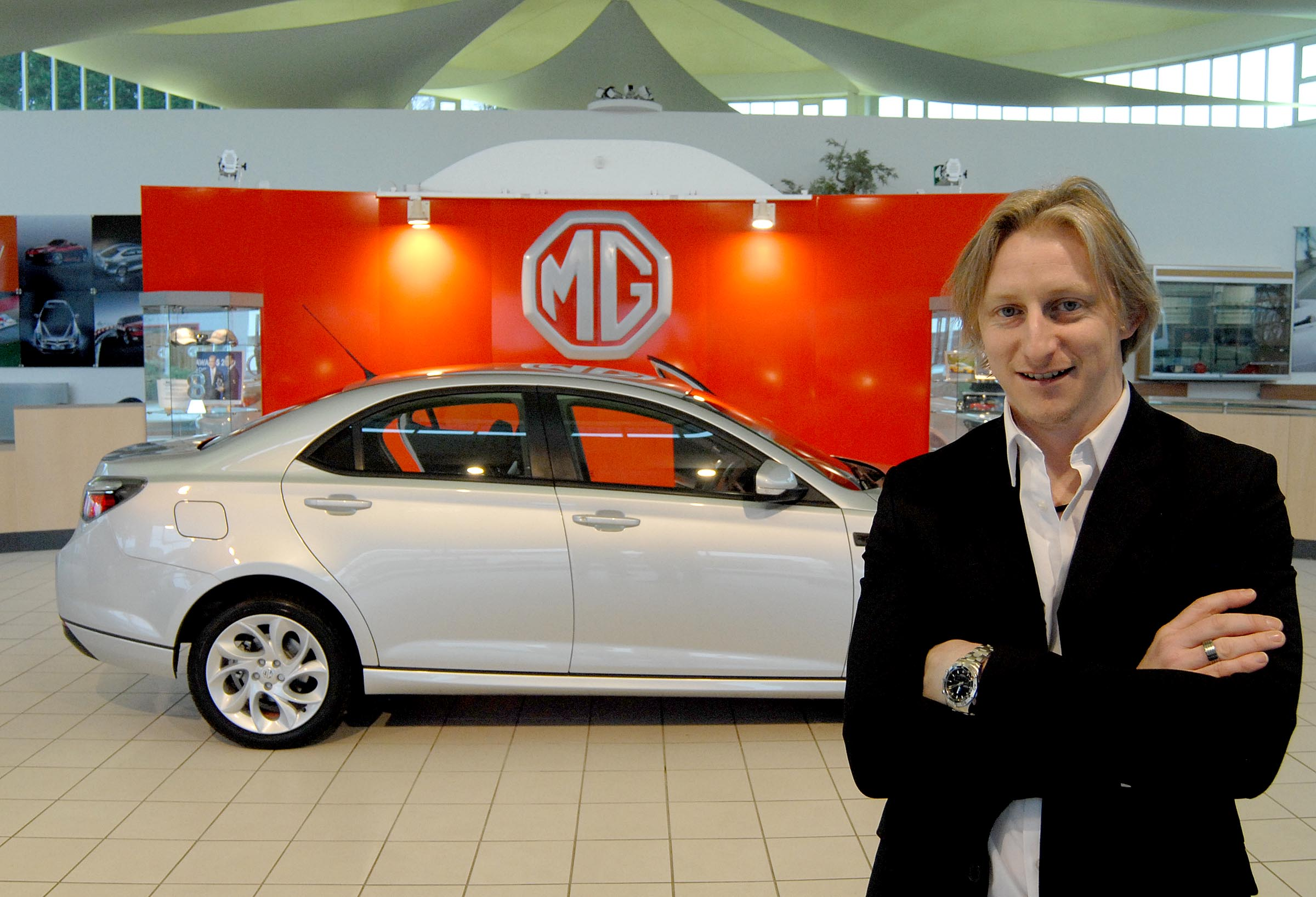 MG6 Magnette saloon with head designer Tony Williams-Kenny