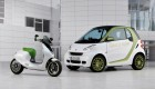 smart escooter concept and smart fortwo ev