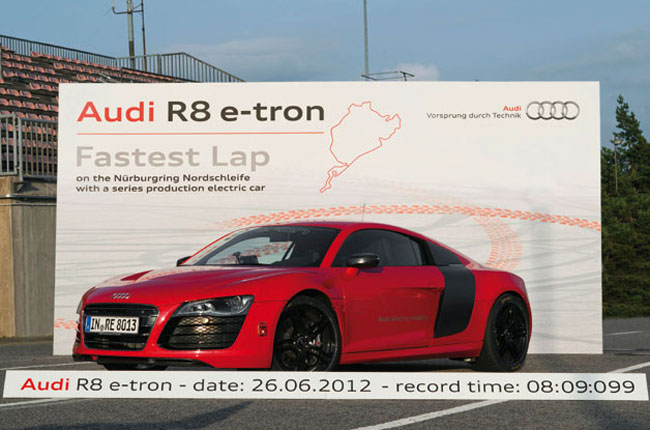 Audi R8 E-Tron Sets A New Nürburgring Lap Record For Electric Cars