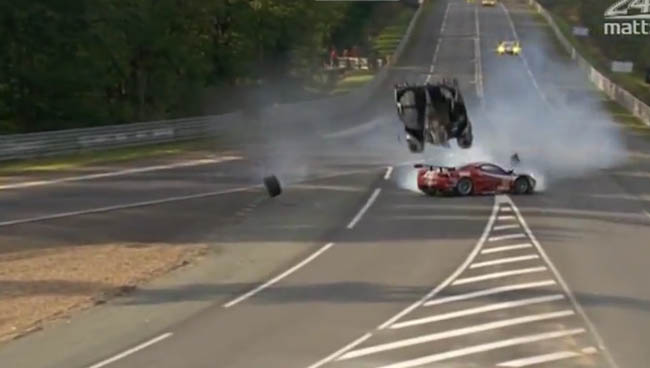 Le Mans crash