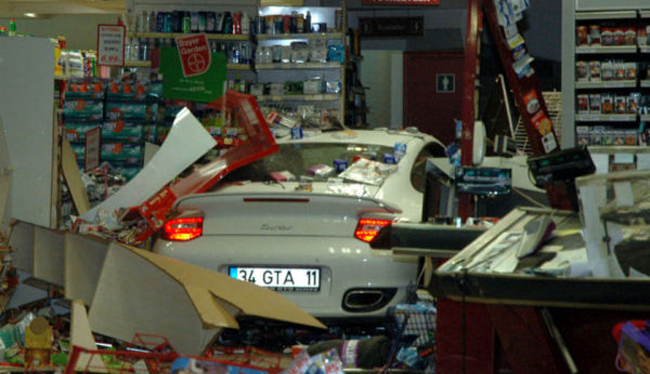 Woman Crashes Porsche 911 Turbo Into Grocery Store In Turkey [VIDEO]