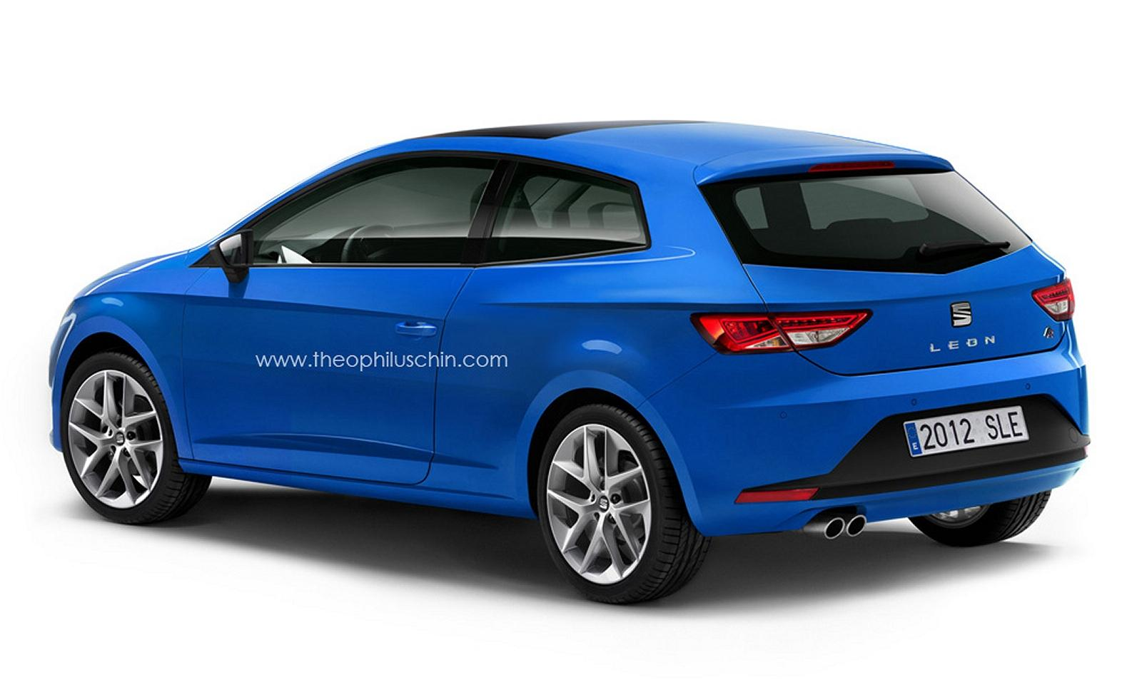 seat leon 3 door aka sportcoupe rendered. Black Bedroom Furniture Sets. Home Design Ideas