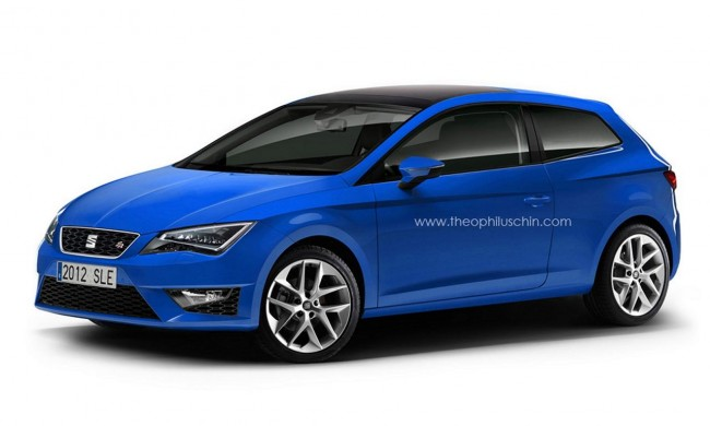 New Seat Leon 3-door (SportCoupe) Rendered