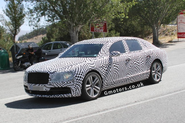 2014 Bentley Continental Flying Spur Spied With Less Disguise