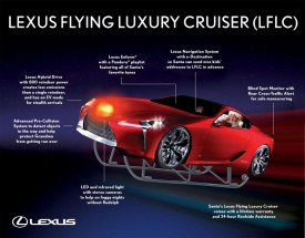 Lexus Flying Luxury Cruiser for Santa
