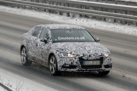 2014 Audi A3 Saloon Spied Winter Testing