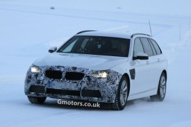 2014 BMW 5 Series (F10) Facelift Caught Testing at the Arctic Circle