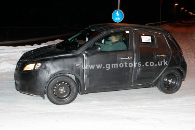2012 Lancia Ypsilon winter testing