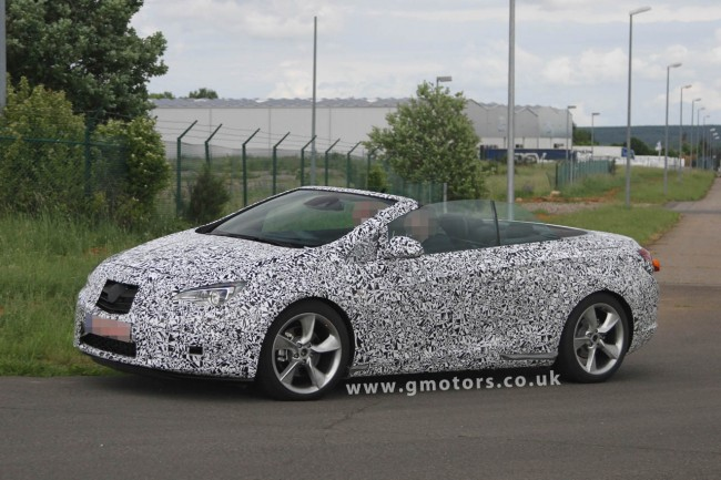 2013 Opel/Vauxhall Astra Cabrio Spied With Less Disguise And The Top Down