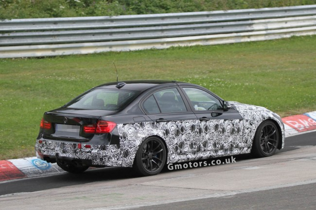 New BMW M3 Saloon Spied On The 'Ring