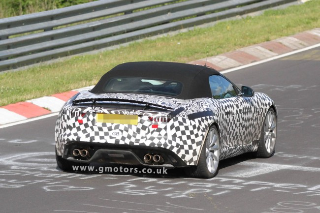 Jaguar F-Type R Spied Testing At The Nrburgring