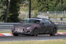 2013 Maserati Quattroporte Spied With Less Disguise At The Nürburgring