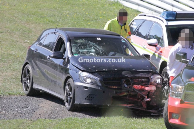 2013 Mercedes A 45 AMG Crashes On The Nürburgring