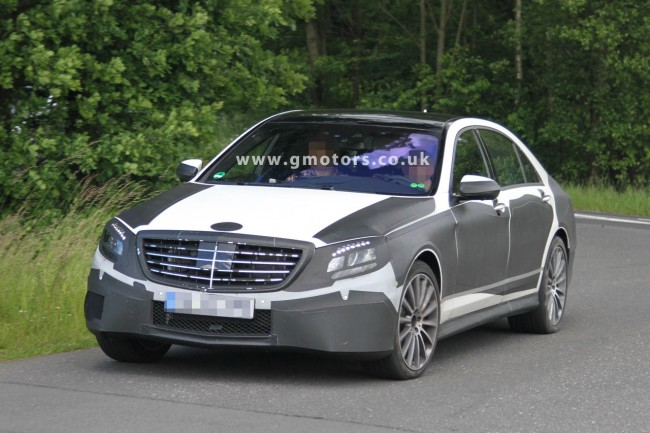 2013 Mercedes S-Class Spied Less Disguised With AMG Package