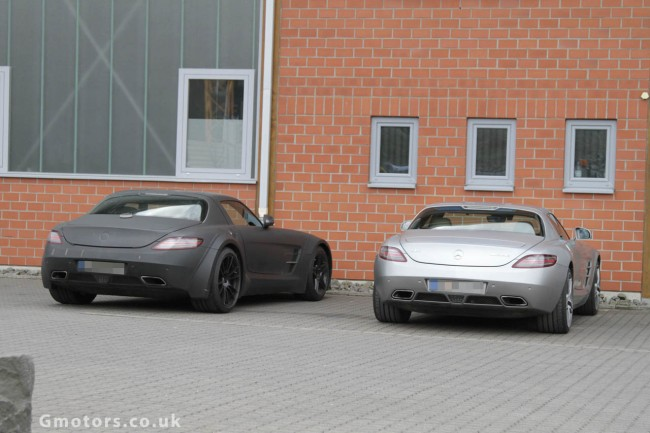 2013 Mercedes-Benz SLS AMG Black Series Spied Less Disguised