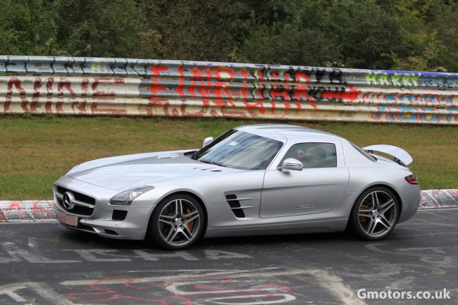 2013 Mercedes-Benz SLS AMG E-Cell Spied Undisguised At The Nürburgring