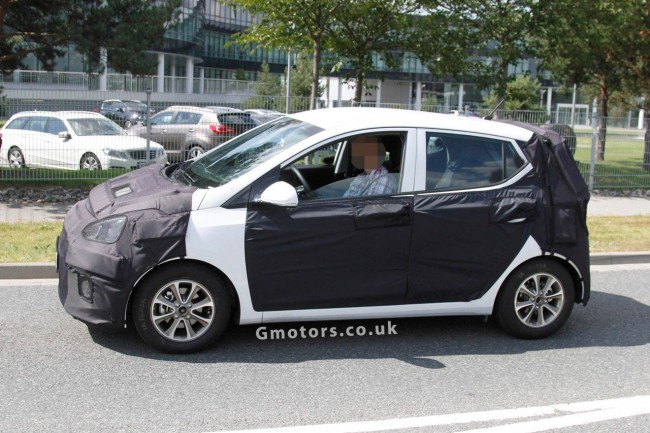 New 2014 Hyundai i10 Spied Testing In Germany