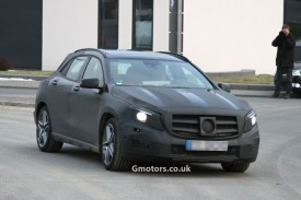 Mercedes-Benz GLA 45 AMG spied near the Nürburgring