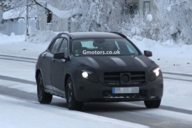Mercedes-Benz GLA Spied Winter Testing