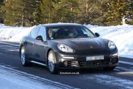 2014 Porsche Panamera facelift spied less disguised