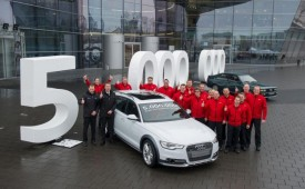 Audi Builds Five Millionth Vehicle With Quattro All-Wheel Drive