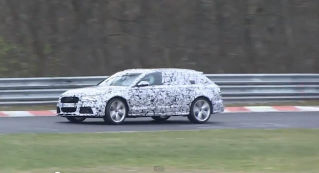 Video: 2013 Audi RS6 Avant Testing On The Nürburgring