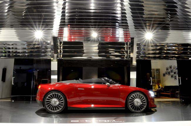 Audi&#8217;s futuristic e-den charging station at Design Miami