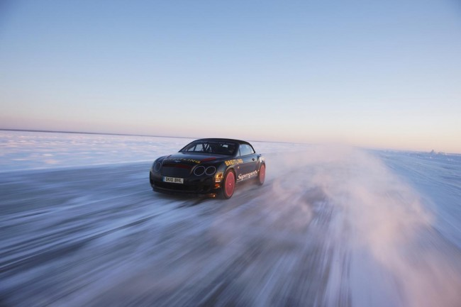 Bentley Continental Supersports Convertible on Ice