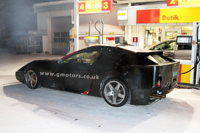 Ferrari 612 Shooting Brake Winter Testing in Sweden