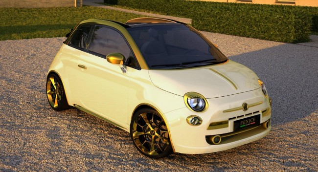 €500,000 Fiat 500C Done in Gold and Diamonds Commissioned by Chinese Businessman