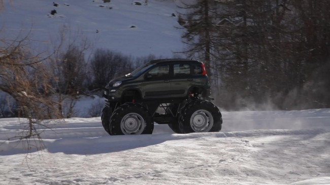 Fiat Panda Monster Truck side