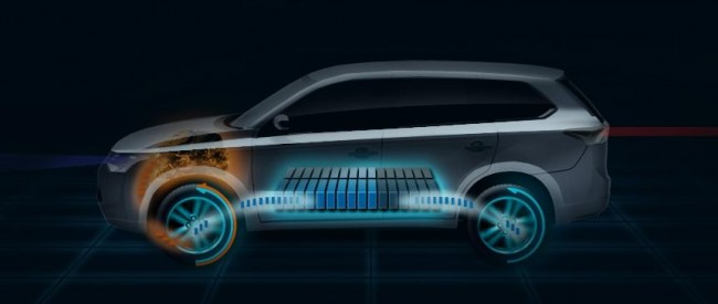 2013 Mitsubishi Outlander Plug-In Hybrid EV Teased For Paris Debut