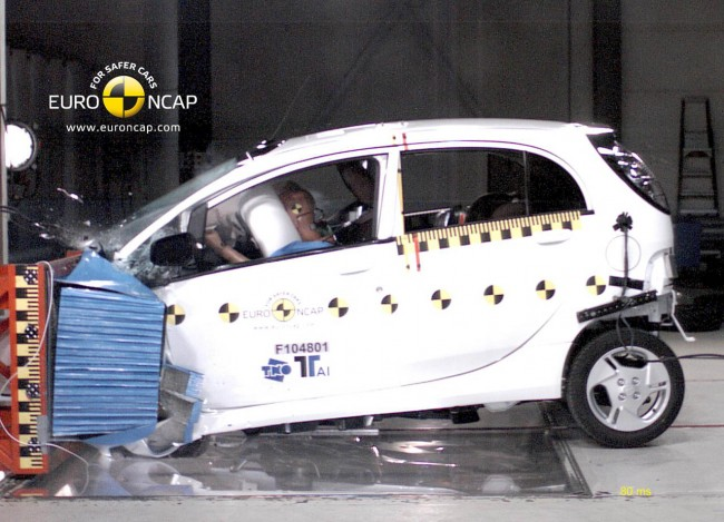 Mitsubishi i-MiEV Earns A 4-Star Rating At Euro NCAP